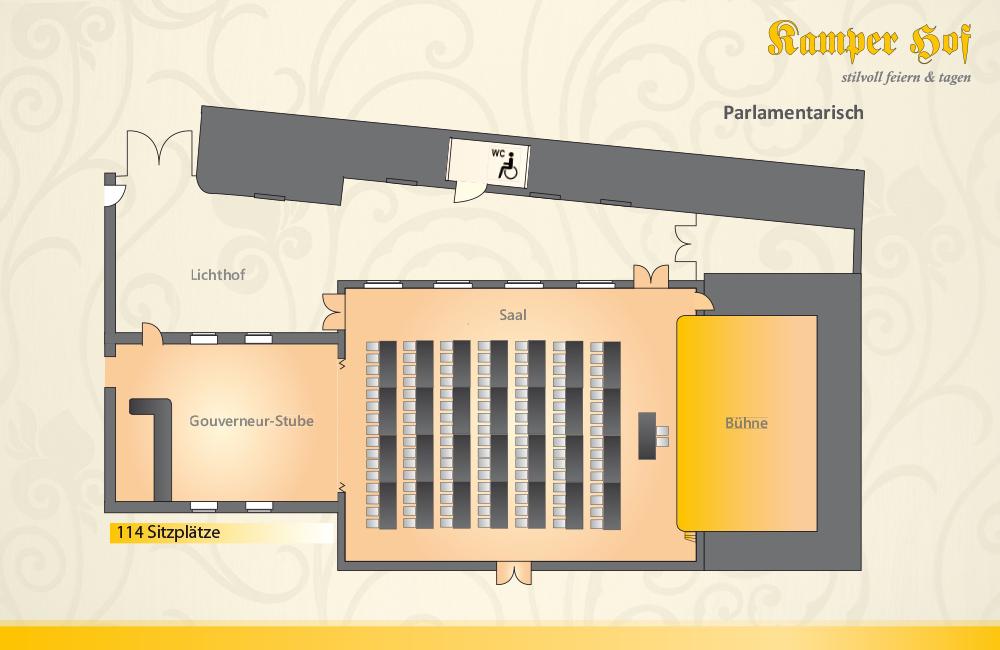 Saalplan Und Bestuhlungsmöglichkeiten Kamper Hof